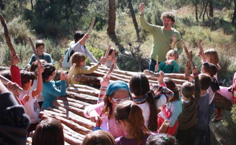 CACIS offers many surprises, sometimes with children and a giant xylophone