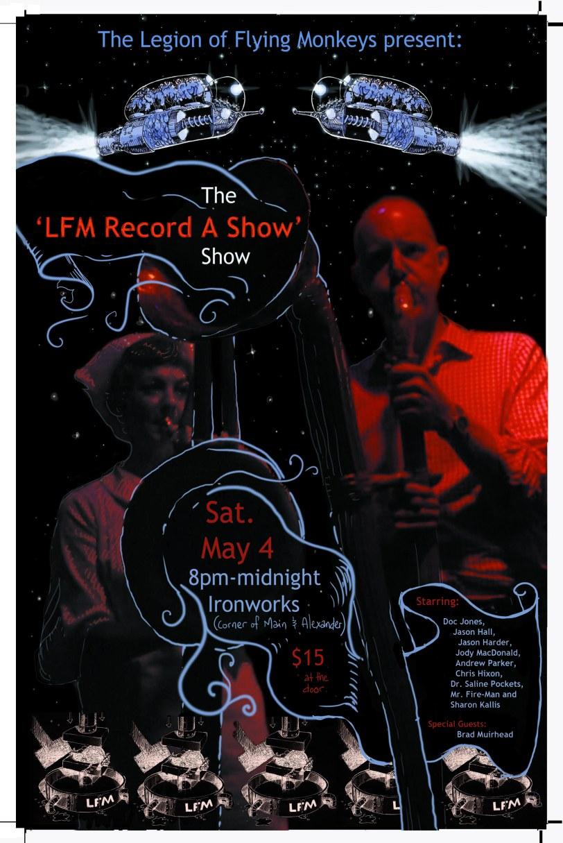 LFM Record a show show flyer