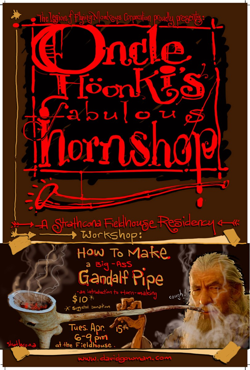 My apologies to Ian McKellan, who was not consulted prior to the making of this event poster. Smoking is bad for you!